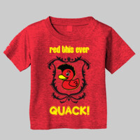 QUACK! Toddler T-shirt w shield logo